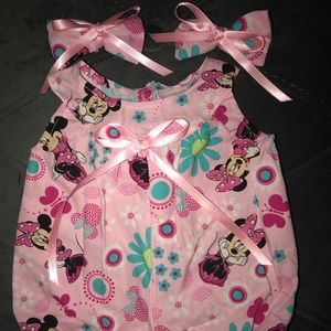 🆕🤗Cabbage PatchDoll Handmade Romper/Minnie Mouse